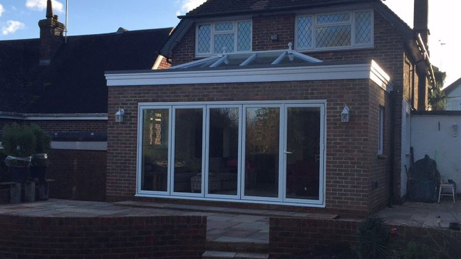 Extension with Roof Lantern and Bi-Folding Doors